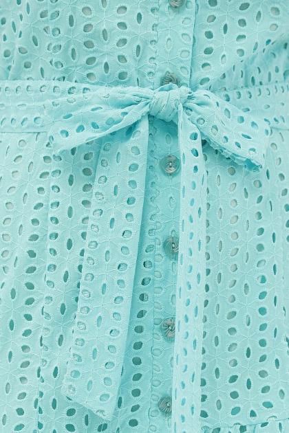 персиковое платье из хлопка. Платье Уника 1 к/р. Цвет: бирюза в Украине