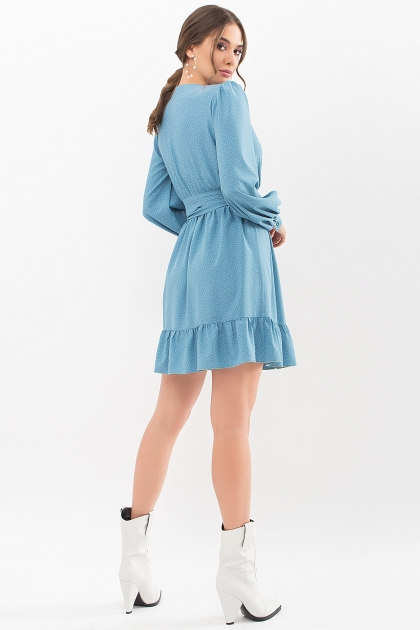 . Платье Идэн д/р. Цвет: бирюза-точка белая цена