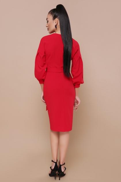 голубое платье с поясом. Платье Одри д/р. Цвет: красный цена
