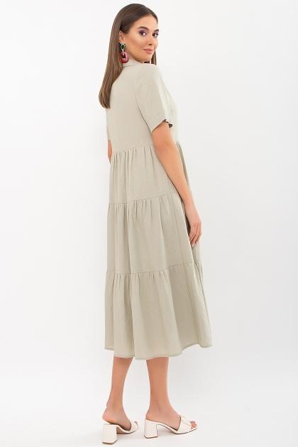 . Платье Иветта к/р. Цвет: оливковый в интернет-магазине