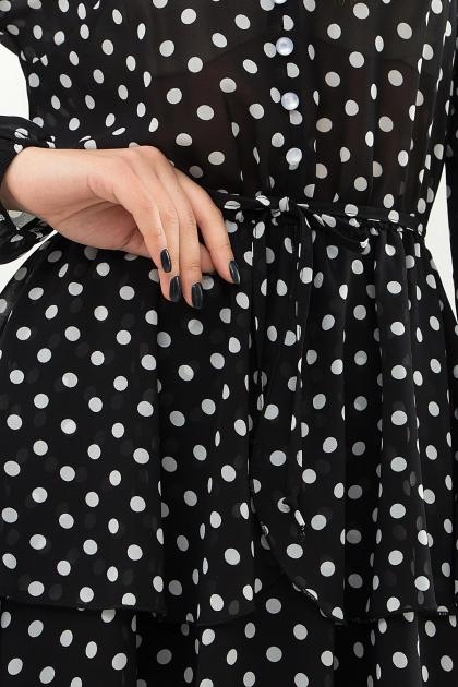 . Платье Алора д/р. Цвет: черный-белый горох в интернет-магазине