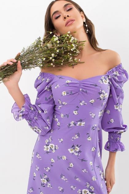 . Платье Пала д/р. Цвет: сиреневый-белый букет цена