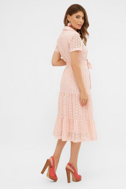 персиковое платье из хлопка. Платье Уника 1 к/р. Цвет: персик в интернет-магазине
