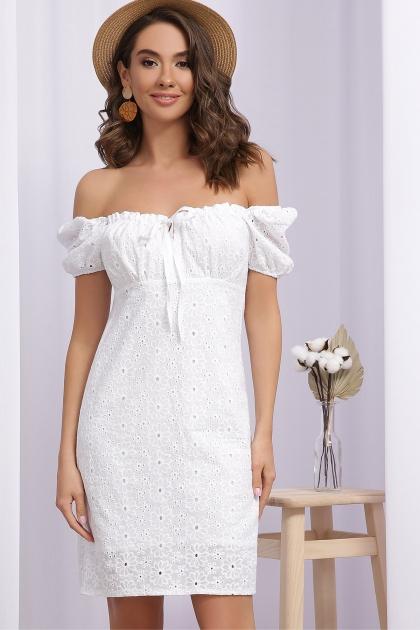 белое мини платье. Платье Бажена к/р. Цвет: белый 1 купить