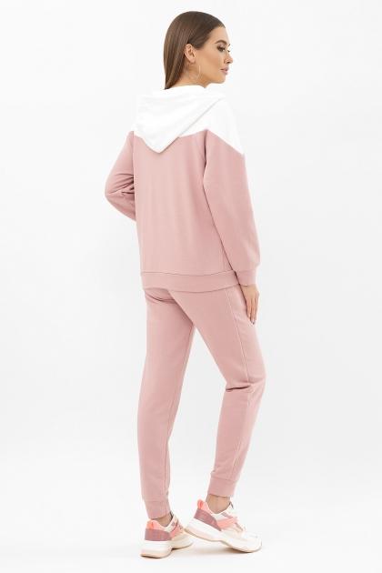 розовый спортивный костюм. Костюм Пэм. Цвет: пыльная роза-белая отд. цена