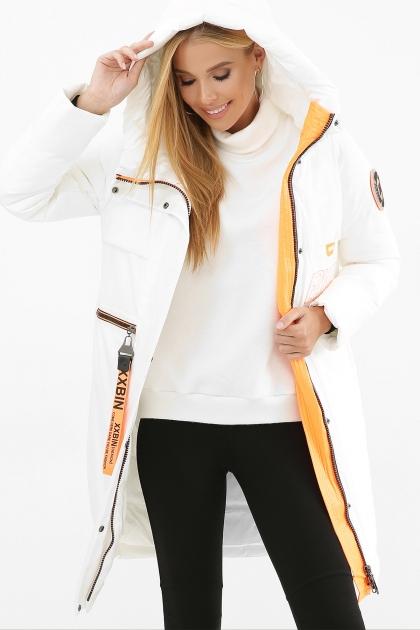 . Куртка 297. Колір: 26-белый-оранжевый купить