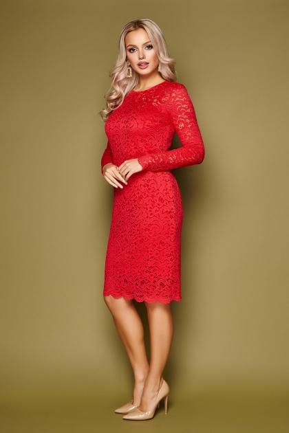 кружевное красное платье. Платье Сания д/р. Цвет: красный купить