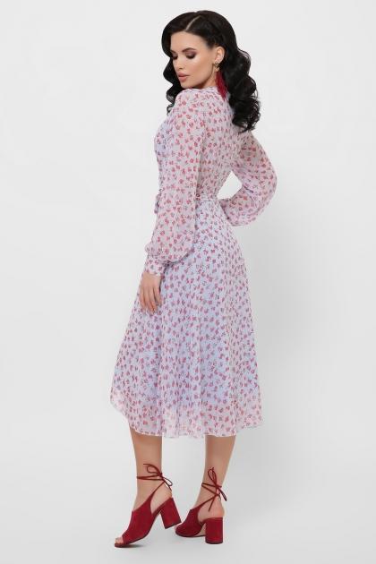 нежное платье на запах. Платье Алеста д/р. Цвет: голубой-цветы красн. в Украине