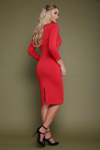 красное платье с молнией спереди. Платье Лилита д/р. Цвет: красный цена
