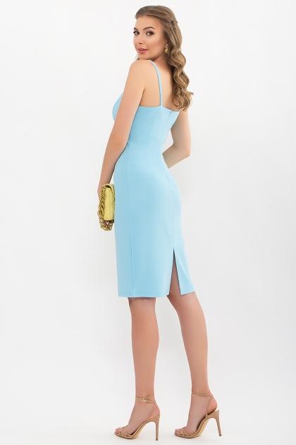 черное платье на тонких бретелях. Платье Кеори б/р. Цвет: голубой цена
