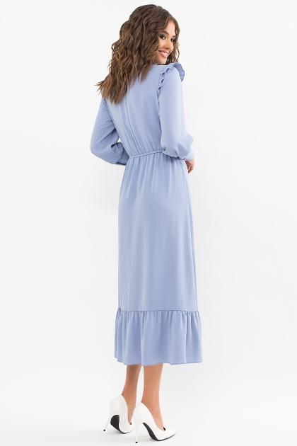 изумрудное платье миди. Платье Фернанда д/р. Цвет: джинс цена