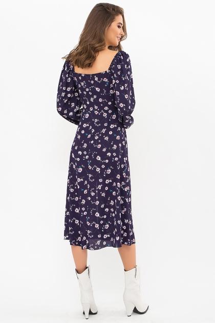 лавандовое платье с цветочным принтом. Платье Валия д/р. Цвет: синий-ромашки в интернет-магазине