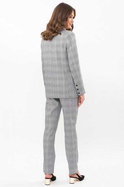 двубортный пиджак в клетку. Пиджак Элейн К д/р. Цвет: клетка черно-белая в интернет-магазине