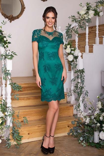 зеленое кружевное платье. Платье Микея к/р. Цвет: зеленый купить