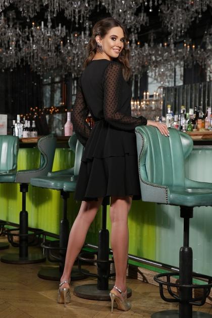 черное платье с длинными рукавами. Платье Лора д/р. Цвет: черный в интернет-магазине
