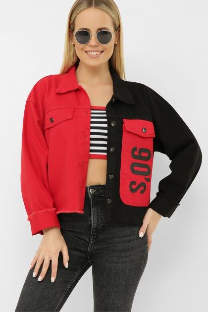 . 211890 AST Куртка VА. Цвет: черный-красный цена