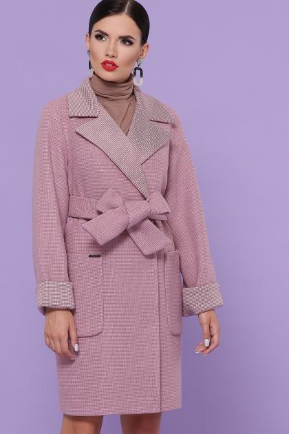 демисезонное песочное пальто. Пальто П-347-М-90. Цвет: 8-А-розовый купить