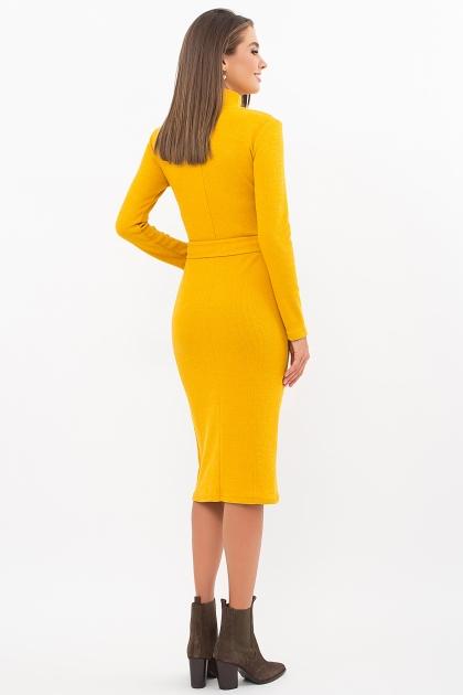 теплое платье-футляр. Платье Виталина 1 д/р. Цвет: горчица цена