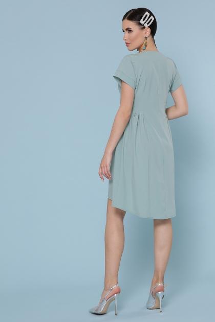 оливковое платье с коротким рукавом. Платье Вилена к/р. Цвет: оливковый в интернет-магазине
