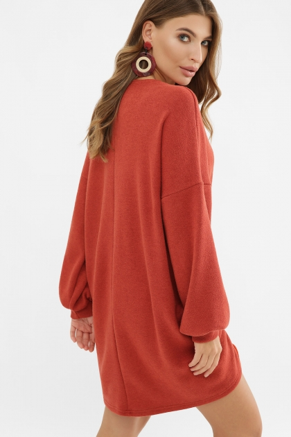 терракотовое платье с длинным рукавом. Платье Диля д/р. Цвет: терракот в интернет-магазине