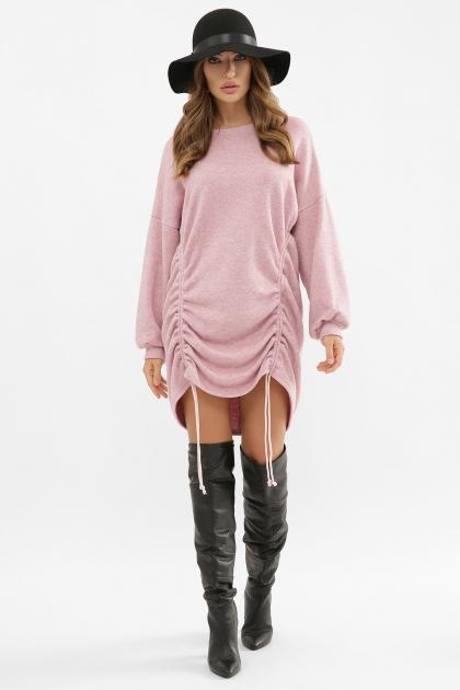 терракотовое платье с длинным рукавом. Платье Диля д/р. Цвет: розовый цена