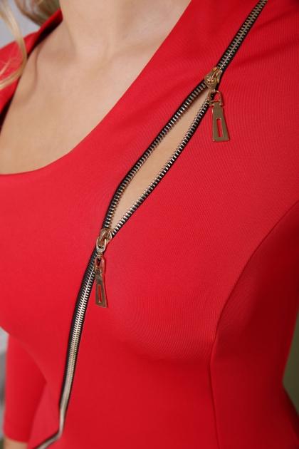 красное платье с молнией спереди. Платье Лилита д/р. Цвет: красный в интернет-магазине