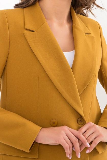 черный деловой пиджак. Пиджак Элейн д/р. Цвет: горчица недорого