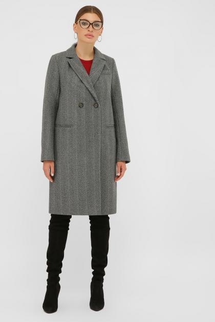. Пальто П-394-95. Цвет: 2709-серый цена