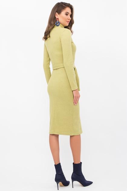теплое платье-футляр. Платье Виталина 1 д/р. Цвет: оливковый цена