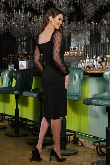 . Платье Велия д/р. Цвет: черный цена