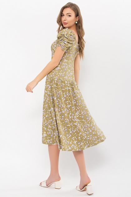 . Платье Никси к/р. Цвет: оливковый-сиреньРозы в интернет-магазине