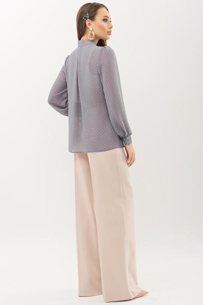 серая блузка в горошек. Блуза Аза д/р. Цвет: серый-пудра м.горох в Украине