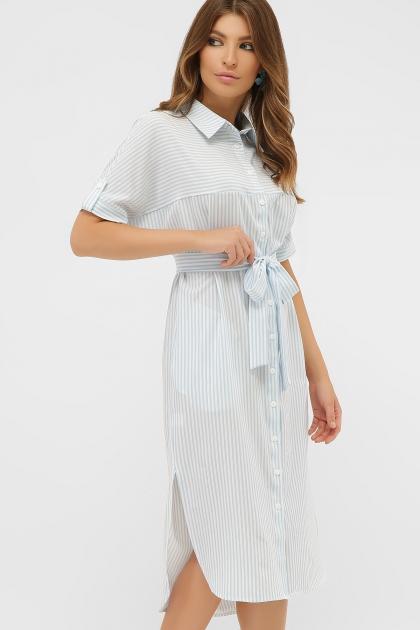 платье-рубашка в голубую полоску. Платье-рубашка Дарья к/р. Цвет: голубая полоска цена