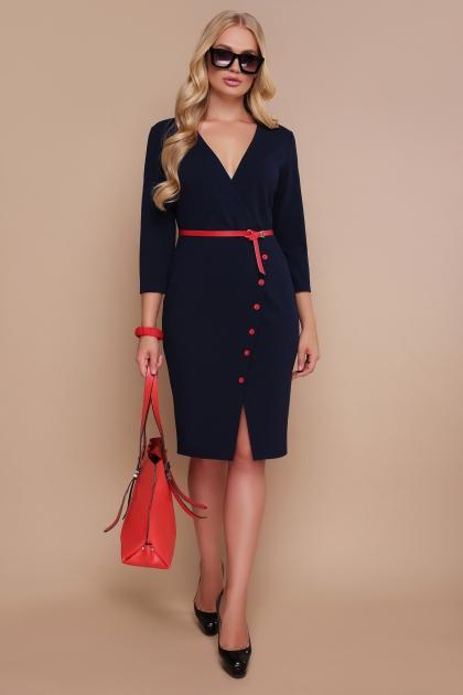 синее платье больших размеров. Платье Элария-Б д/р. Цвет: синий купить