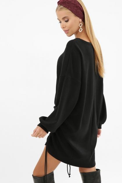 терракотовое платье с длинным рукавом. Платье Диля д/р. Цвет: черный в Украине