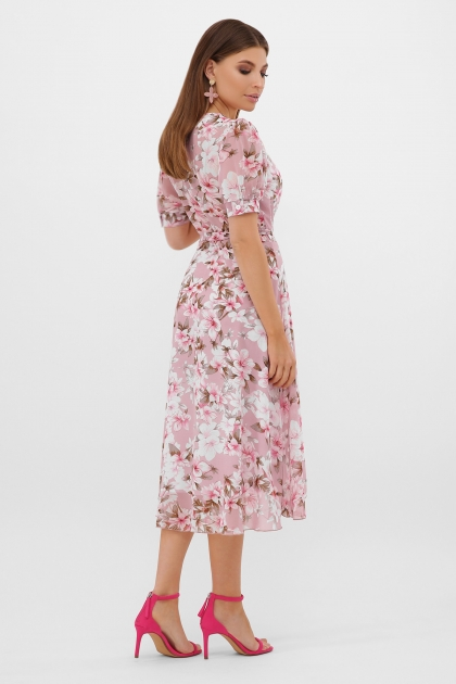 . Платье Алеста к/р. Цвет: розовый-цветы розов. в интернет-магазине