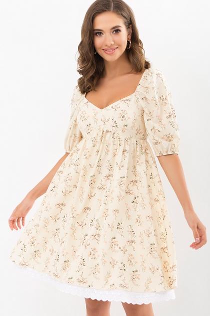 . Платье Эсмина к/р. Цвет: молоко-полевые цветы купить