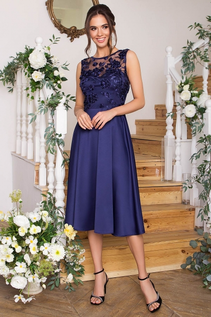 вечернее бордовое платье. Платье Пайпер б/р. Цвет: синий купить