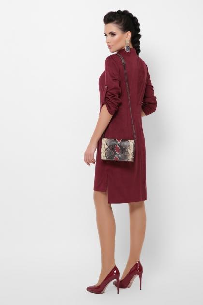 бордовое платье из замши. Платье Мерида д/р. Цвет: бордо в интернет-магазине