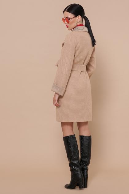 демисезонное песочное пальто. Пальто П-347-М-90. Цвет: 5-бежевый цена