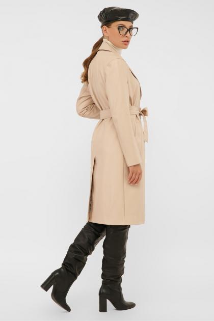 кожаный плащ коричневого цвета. Плащ 108-100 (К). Колір: 602-св.бежевый в интернет-магазине