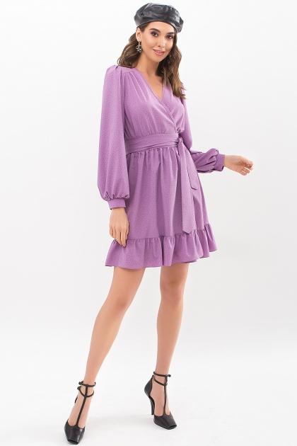 . Платье Идэн д/р. Цвет: сирень-точка черная купить