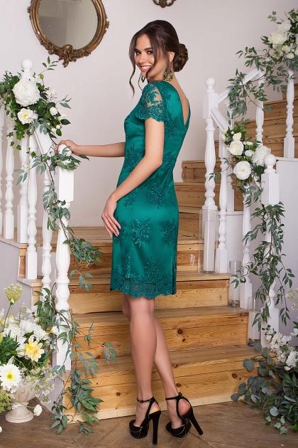 зеленое кружевное платье. Платье Микея к/р. Цвет: зеленый в интернет-магазине