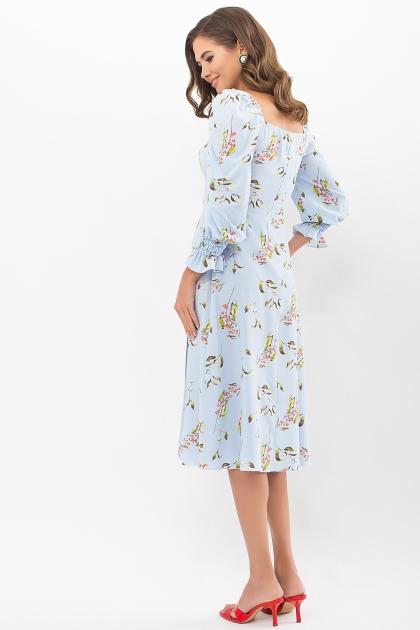 . Платье Пала д/р. Цвет: голубой-цветы-ягоды в интернет-магазине