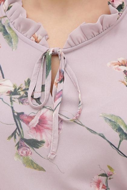 платье хаки из шифона. Платье Элисон 3/4. Цвет: лиловый-цветы б. в Украине