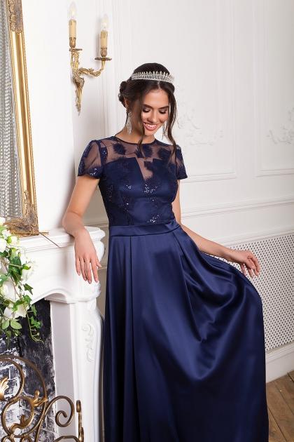 синее платье в пол. Платье Лорена к/р. Цвет: синий цена