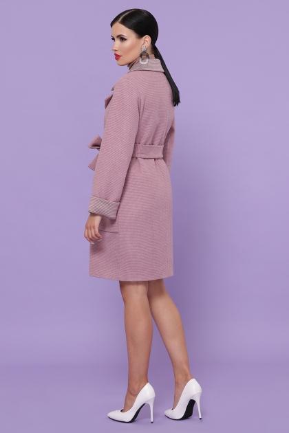 демисезонное песочное пальто. Пальто П-347-М-90. Цвет: 8-А-розовый цена