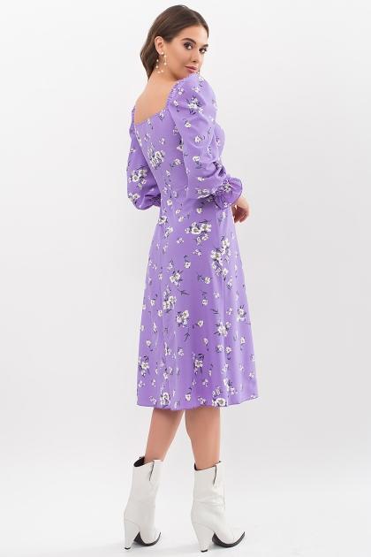 . Платье Пала д/р. Цвет: сиреневый-белый букет в интернет-магазине