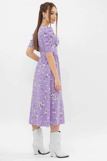 . Платье Фариза к/р. Цвет: сиреневый-белый букет в интернет-магазине
