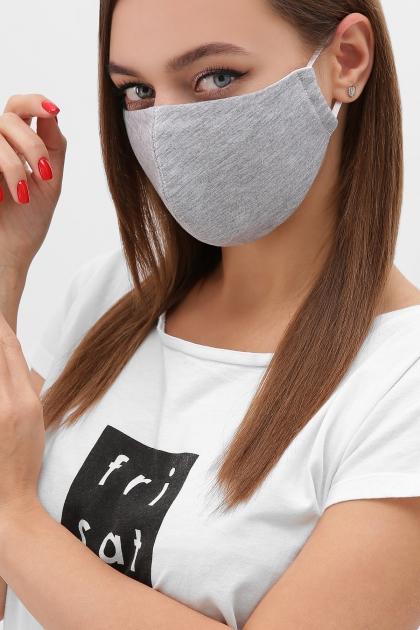 черная маска на лицо. Маска №5. Цвет: св. серый купить